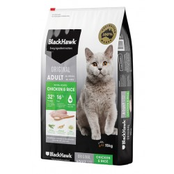 Black Hawk Adult Cat - Chicken and Rice